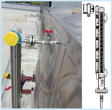 远传磁翻板液位计安装图说明